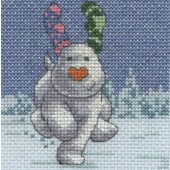 BL1182/64 - The Snowdog Fir Trees Cross Stitch Kit