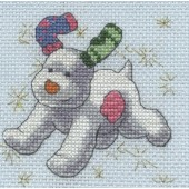 BL1184/64 - The Snowdog Stars Cross Stitch Kit