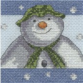 BL1179/64 - The Snowman Snowflakes Cross Stitch Kit