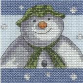 BL1179/64 - The Snowman Snowflakes Cross Stitch Kit