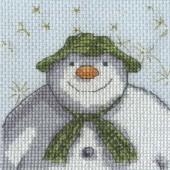 BL1180/64 - The Snowman Stars Cross Stitch Kit