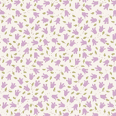 Tilda 100% Cotton Fabric Sophie Lilac Fat Qtr
