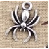 Spider Silver Tone Charms 3 Pack