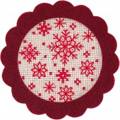 Rico Star Felt Hanger Cross Stitch Kit