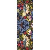 BL1170/77 - V & A William Morris - Strawberry Thief Cross Stitch Bookmark Kit