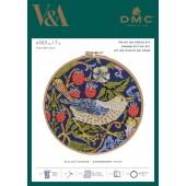 BL1174/77 - V & A William Morris - Strawberry Thief Cross Stitch Kit