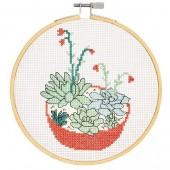 DMC Succulents Cross Stitch Kit - BK1834