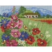 DMC Seasons In Bloom Cross Stitch Kit - Summer