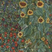 BK1812 - Farm Garden with Sunflowers by Gustav Klimt Cross Stitch Kit
