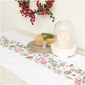 Rico Christmas Fir Table Runner Embroidery Kit
