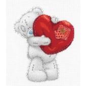 BL1136/72 - Me to You Tatty Teddy Heart Printed Cross Stitch Kit