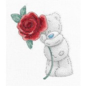 DMC BL1135/72 - Me to You Tatty Teddy Rose Printed Cross Stitch Kit