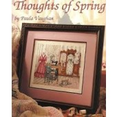 Leisure Arts Thoughts of Spring Cross Stitch Chart Leaflet