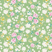 Tilda 100% Cotton Fabric Apple Butter, Bonnie, Sage Fat Qtr