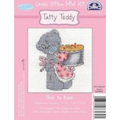 BL1070H/72 - Me to You Tatty Teddy Time To Bake Mini Cross Stitch Kit