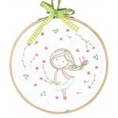 TMREMB1 - Spring Girl Printed Embroidery Kit