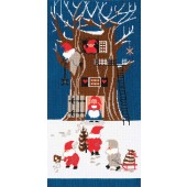 BL111609 - Tomte Tree House Cross Stitch Kit