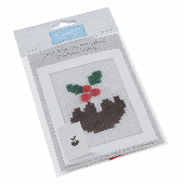 Trimits Cross Stitch Greeting Card Kit - Christmas Pudding