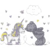 DMC Unicorn Kisses Cross Stitch Kit - BL1191/72