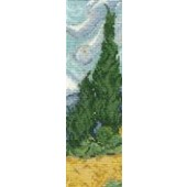 BL1121/71 - The National Gallery - Van Gogh - A Wheatfiled with Cypresses Cross Stitch Kit