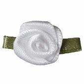 White Ribbon Roses - pack of 10