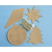 Stitchable Pre-punched Christmas Decorations Kraft