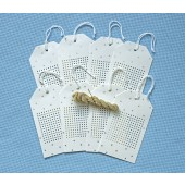 Starry Stitchable Tags White/Gold