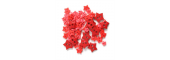 Craft Buttons - Red Stars (2.5g Pack)