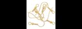 Gold Long Ball Earring Hooks