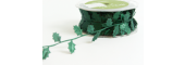 EX45 - Green Cut-Out Holly Shapes Ribbon