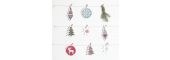Stitchable Christmas Decorations white - issue 325. Use discount code CHRISTMAS17