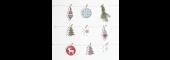 Stitchable Christmas Decorations White
