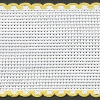 2in / 5cm White / Yellow Edged Aida Band - 1m