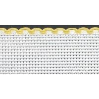 3in / 8cm White / Yellow Edged Aida Band - 1m