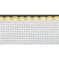 4in / 10cm White / Yellow Edged Aida Band - 1m