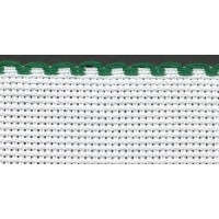 3in / 8cm White / Green Edged Aida Band - 1m