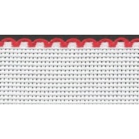 4in / 10cm White / Red Edged Aida Band - 1m