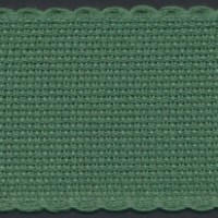 2in / 5cm Christmas Green Aida Band - 1m