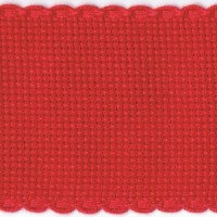 2in / 5cm Christmas Red Aida Band - 1m