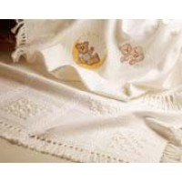 14 Count Palisade Afghan: Antique White
