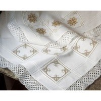 18 Count Anne Cloth 100% Cotton Afghan: White